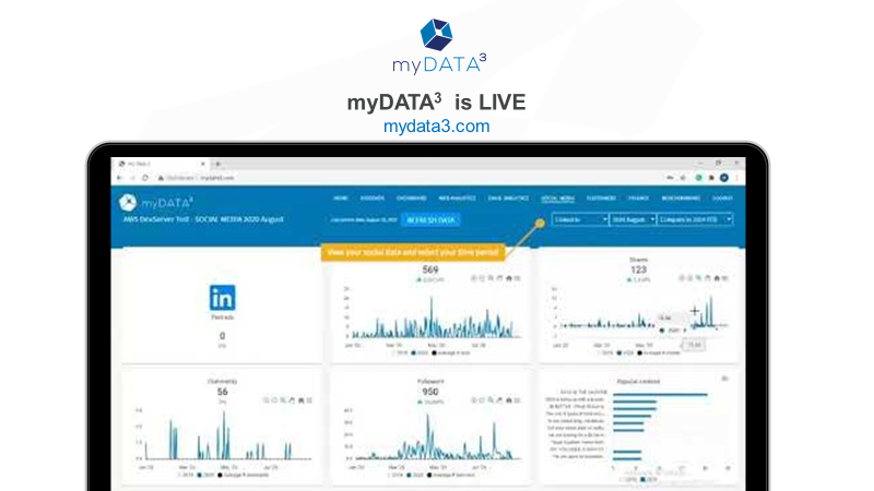 myDATA<sup>3</sup> is now live