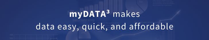 myDATA<sup>3</sup> makes data easy, quick, and affordable